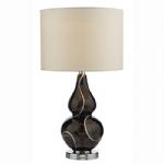 Olga Black Glass Table Lamp OLG4221/X