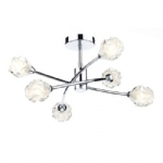 Seattle 6 Light Semi Flush Ceiling Fitting