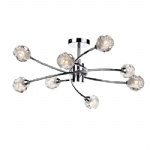 Seattle 8 Arm Semi Flush Light