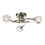 Seattle 3 Arm Semi Flush Light