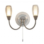 Tugel Satin Chrome Double Wall Light TUG0946