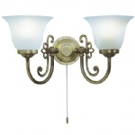 Woodstock Antique Brass Wall Light WOO0985