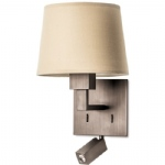 Bali Bronze/Sand Switched Wall Light 05-3218-19-82+Pan-157-BY