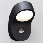 0676 Soprano PIR Outdoor Black Wall Light