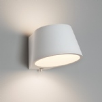 Koza White Plaster Wall Light 0695