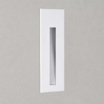 LED recessed Borgo wall light, finished in white running a 3W 3000k LED Lamp.
