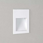 Borgo modern recessed LED wall light, finished in white.