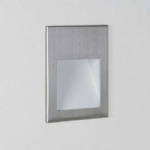 Borgo 90 Brushed Steel Recessed LED Wall Light 1212006 (0975)