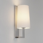 Riva LED 350 Wall Light Nickel & Fabric 1214004+5018004 (7022+4080)
