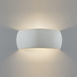 7073 Milo Plaster Wall Light (Paintable)