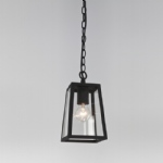 Calvi Black Outdoor Hanging Porch Lantern 1306003 (7112)