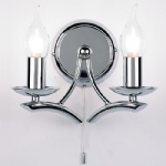 Modern Wall Light Polished Chrome 1207-2CH