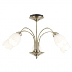 Petal Semi Flush Ceiling Light 124-5AB