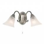 Hardwick Antique Silver Wall Light 144-2AS