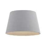 "Cici 8"" Grey Faux Linen Lampshade 66204"