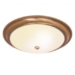 Atlas Antique Brass Flush Light 91121