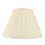 Box Pleated 12 Inch Cream Lamp Shade CARLA-12