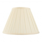 Handmade 14 Inch Cream Box Pleated Lamp Shade CARLA-14