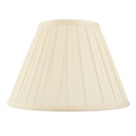 "22"" Box Pleated Cream Lamp Shade CARLA-22"