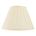 6 Inch Empire Box Pleat Cream Lamp Shade CARLA-6