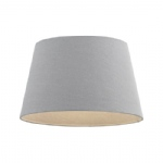 Grey Faux Linen Drum Lampshade CICI-14GRY