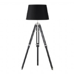 EH-TRIPOD-FLBL + CICI-18BL Floor Lamp With Shade