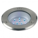 Blue LED Stainless Steel Walkover Light LED-TR-BLU