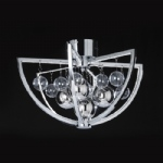 LED Chrome Semi Flush Muni-CH-F