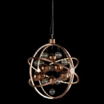Copper Finish LED Spherical Pendant Light MUNI-CO