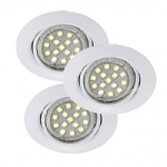 Triton LED 3 Light Recessed Spotlights