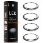 Disc 18 White LED Circles Kit 12171