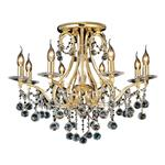 Bianco 8 Lamp Asfour Crystal Ceiling Light