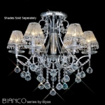 Bianco Polished Chrome Crystal Ceiling Light IL30116