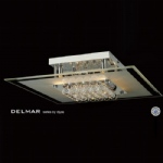 Delmar 6 Light Square Semi Flush Light