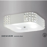 IL31191 Denver Flush Crystal Ceiling Light