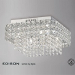 IL31152 Edison Crystal Ceiling Light