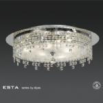 IL30261 Esta Round Crystal Flush Ceiling Light