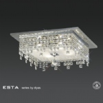 IL30262 Esta Square Crystal Flush Ceiling Light