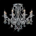 Bianco Polished Chrome Crystal Ceiling Light IL30118