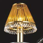 Crystal Rod Amber Crystal Clip-On Shade IL30500