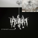 Cygnet 11 Light White and Chrome Crystal Ceiling Fitting IL50413