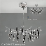 Cygnet Black And Chrome 12 Light Ceiling Fitting IL50416