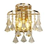 Inina French Gold/Crystal Switched Double Wall Light IL32774