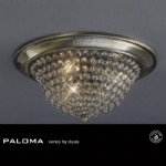 Paloma Crystal Ceiling 3 Light 390mm