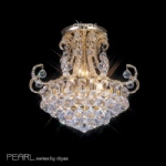 Pearl crystal semi flush ceiling lights