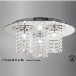 Pegasus Crystal Ceiling 3 Light