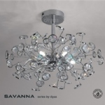 IL31403 Savanna Crystal Ceiling Light