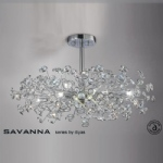 IL31404 Savanna Crystal Ceiling Light