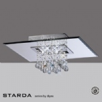 Starda 5 Light Square Semi Flush