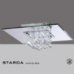 Starda 8 Light Square Semi Flush